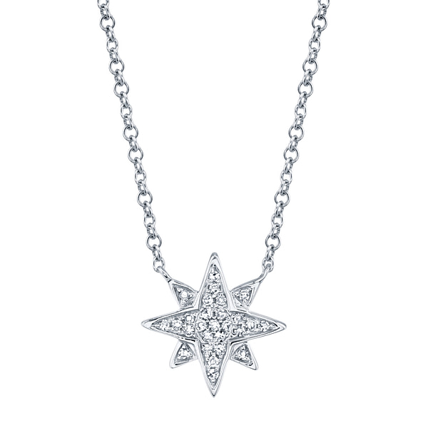 north star necklace white gold