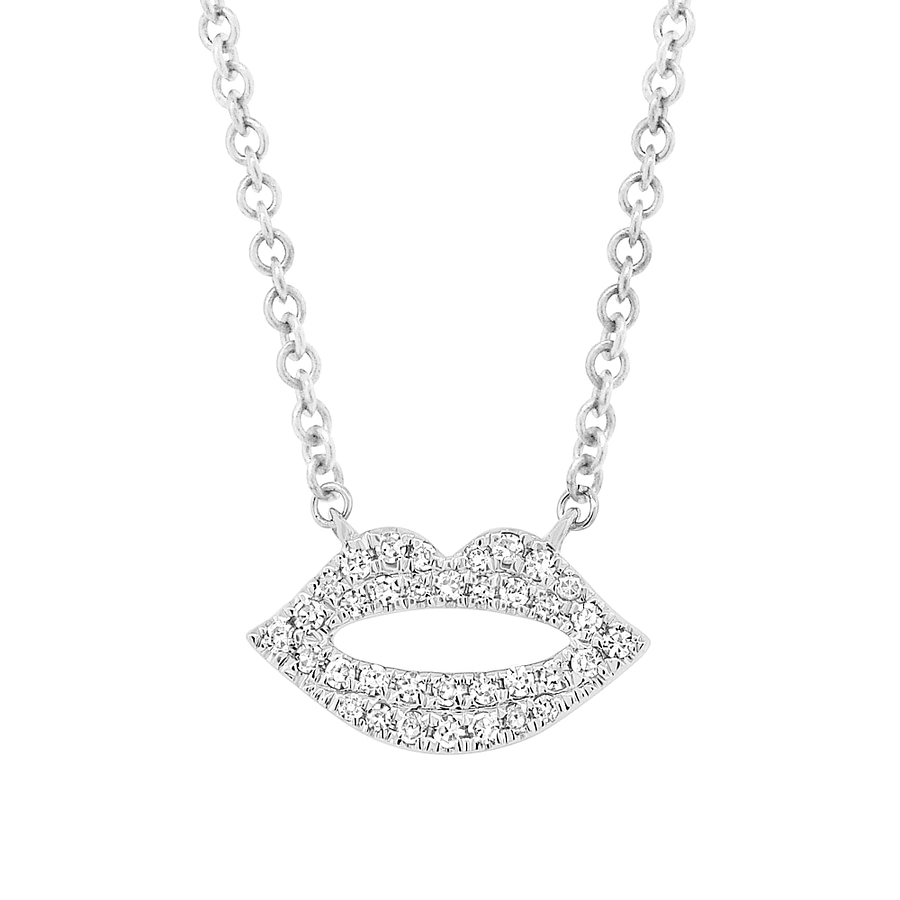 diamond lips necklace