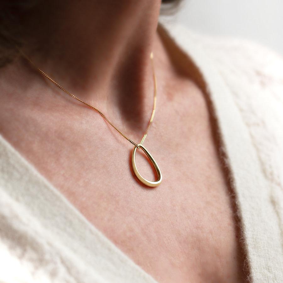 silver tear drop pendant