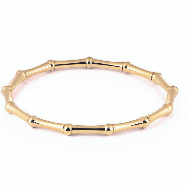 18k gold stretch bracelet