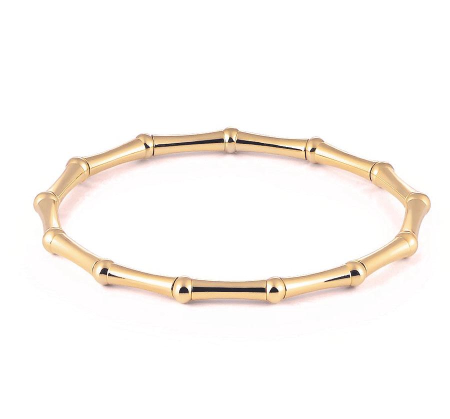 18k gold stretch bracelet