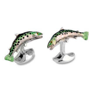 trout cufflinks