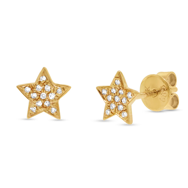 small gold star stud earrings