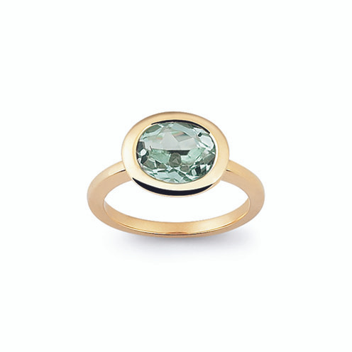 green amethyst ring gold
