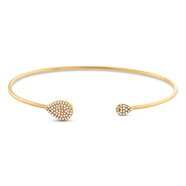 diamond bangle bracelet yellow gold