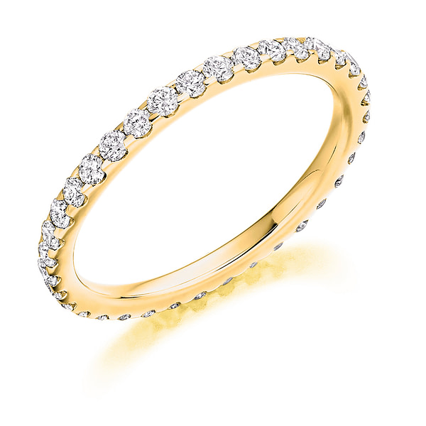 micro pave diamond eternity ring