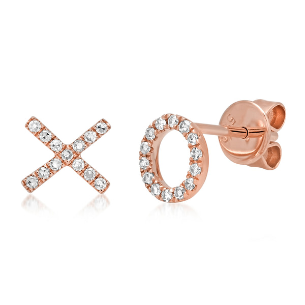 rose gold hugs and kisses earrings