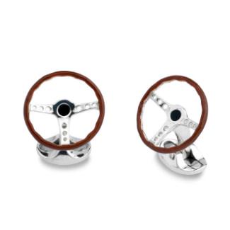 Vintage Steering Wheel Cufflinks