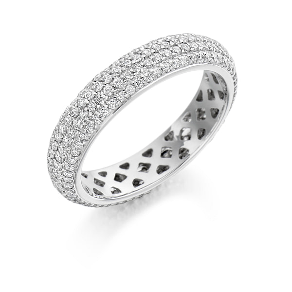 white gold eternity ring 18ct