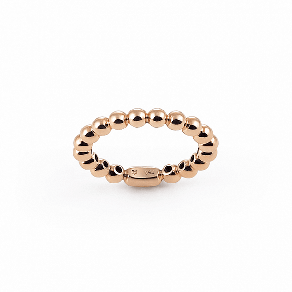 beaded ring gold