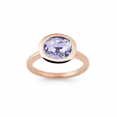 rose gold and amethyst ring