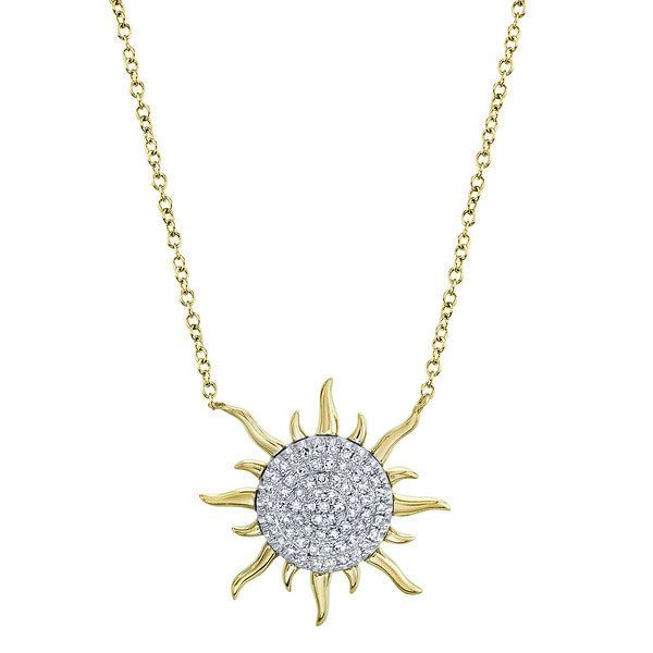 diamond sun pendant