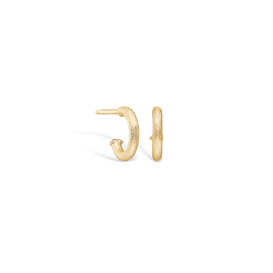 14 carat yellow gold hoop earrings