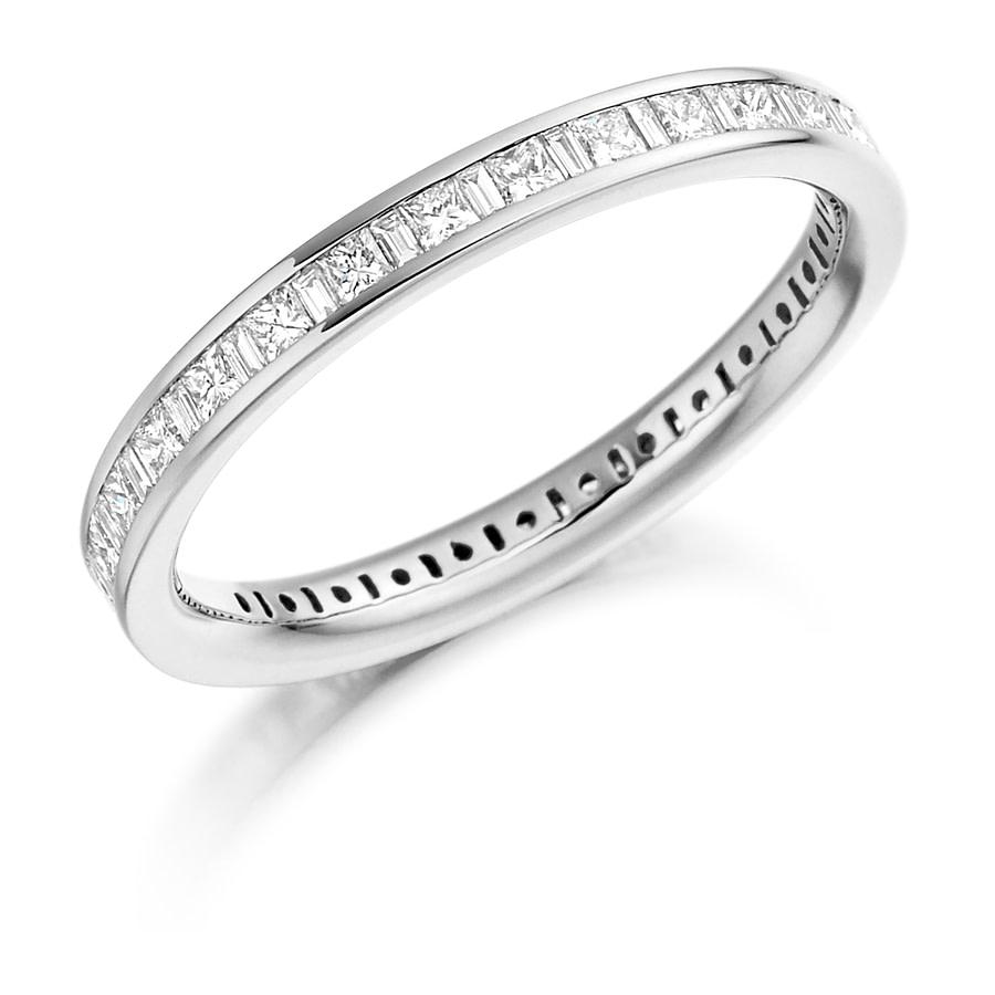 princess cut baguette diamond ring