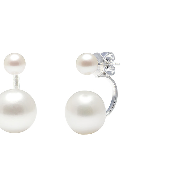 white gold and pearl earrings