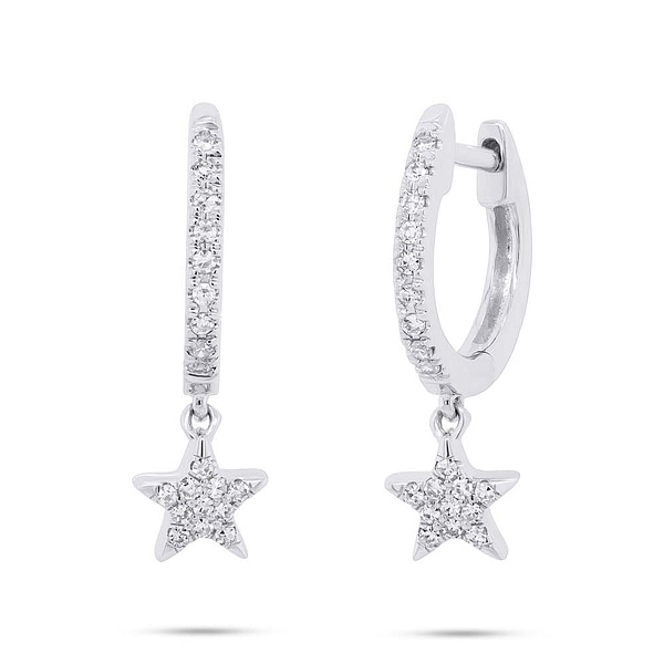 star hoop earrings small