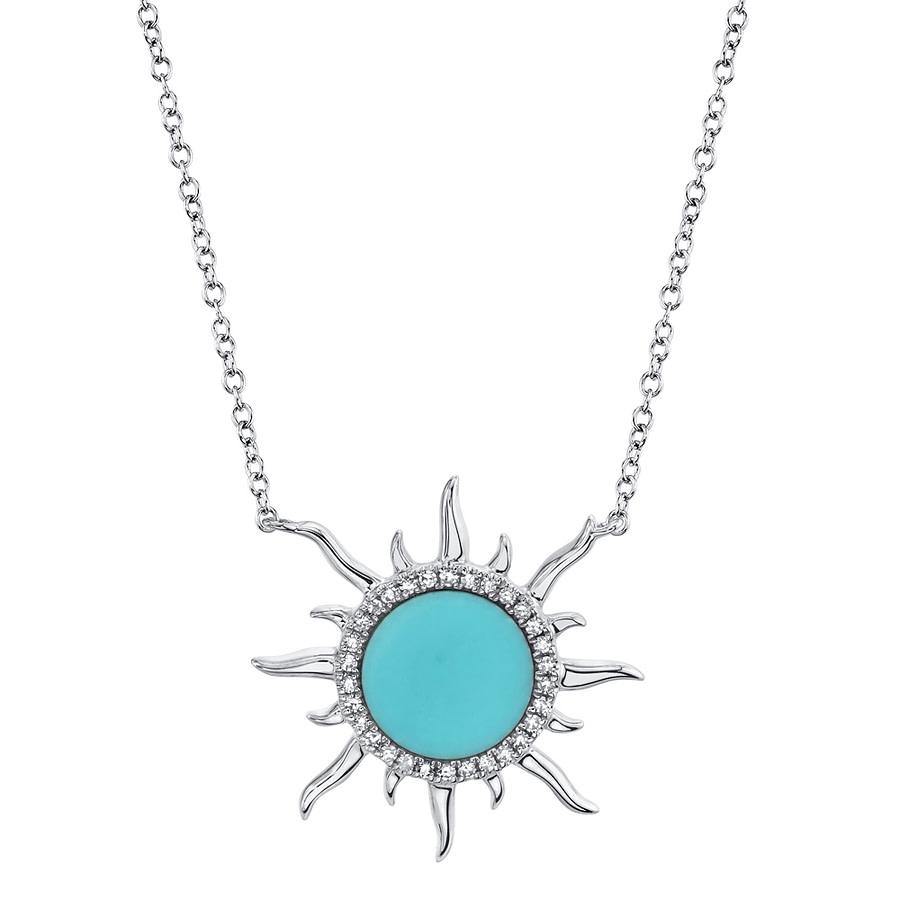 diamond and turquoise pendant