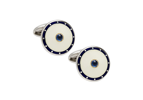 Sterling Silver and Enamel Cufflinks