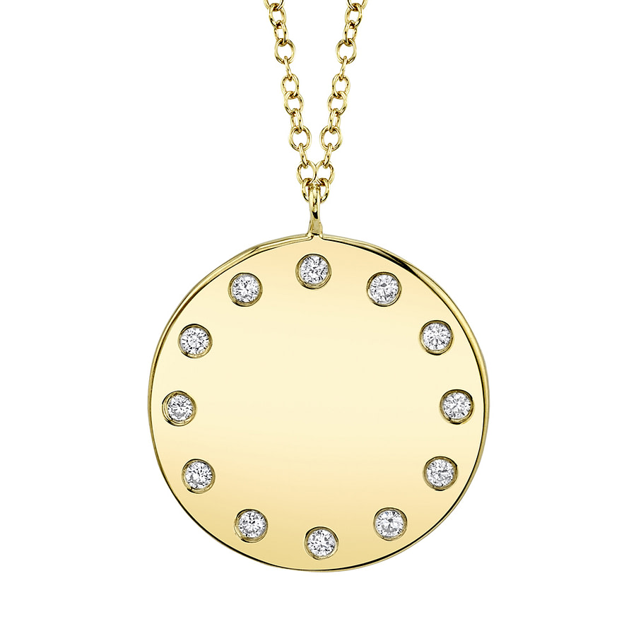 14k gold medallion necklace