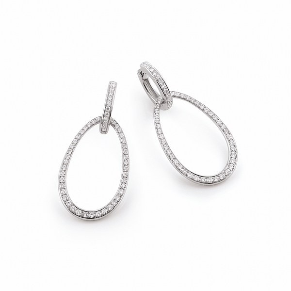 hoop earrings with detachable drops