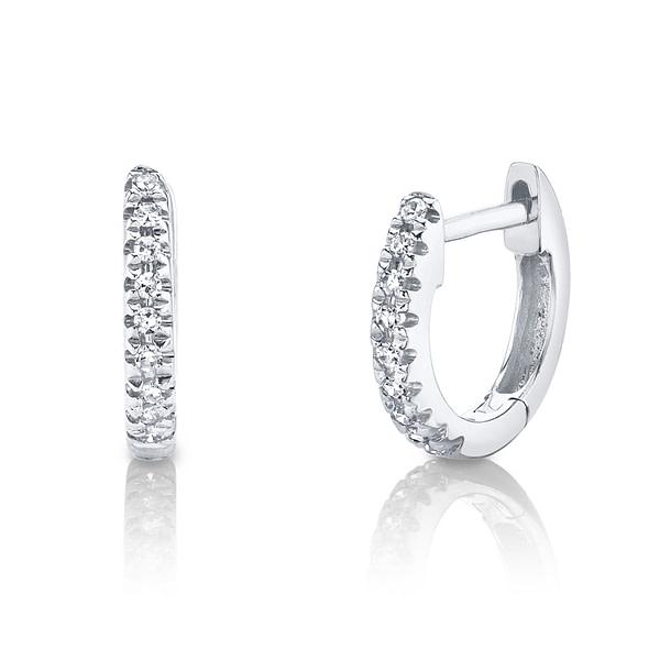 small diamond hoop earrings white gold