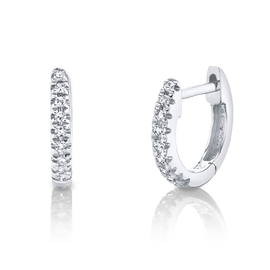 small diamond hoop earrings white gold