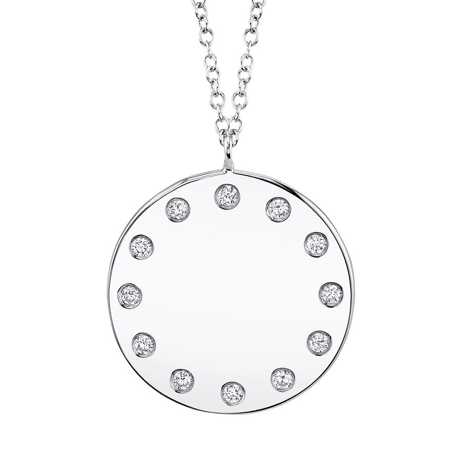 diamond medallion necklace